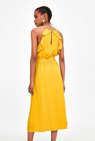 Zara sarı elbise