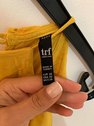 xs Beden Zara sarı elbise