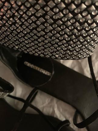 Markasız Ürün Siyah Suet Sandalet