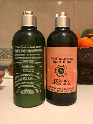 Loccitane onarıcı şampuan ve saç kremi