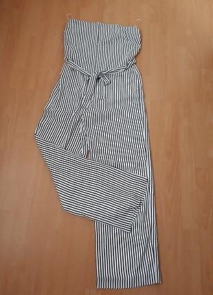 m Beden beyaz Renk Wallis Marka Kullanılmamış Yazlık Kumaş Tulum
