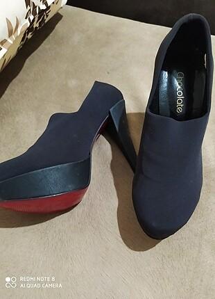 Dolgu topuk süet ayakkabı hiç kullanılmamış