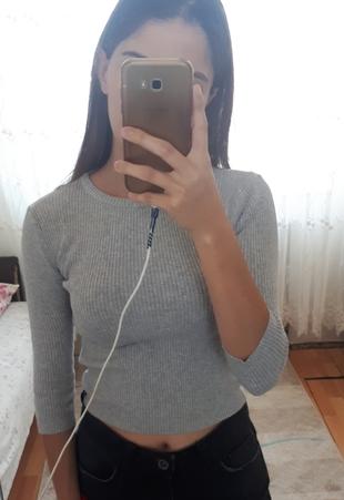 gri renk kısa kazak