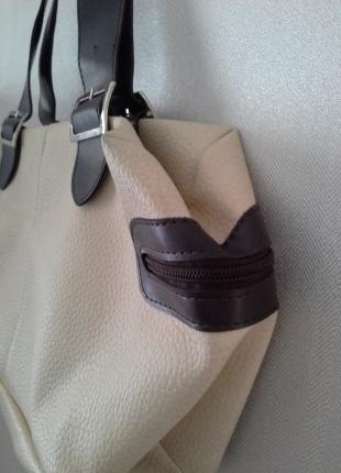 F & F Krem rengi çanta 2