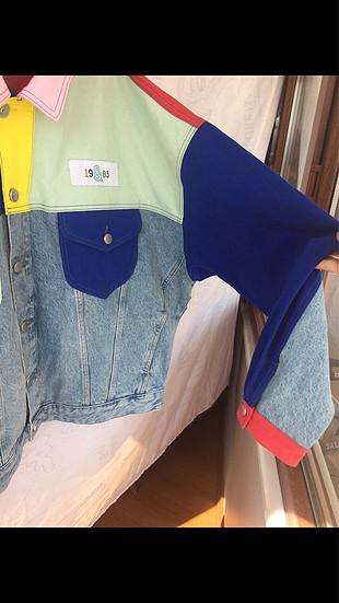 l Beden çeşitli Renk salas kesim vintage kot ceket