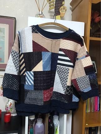 Çok renkli sweatshirt