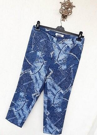 42 Beden Ysatis Marka Mükemmel Mikro Desenli Kot Görünümlü Pantolon
