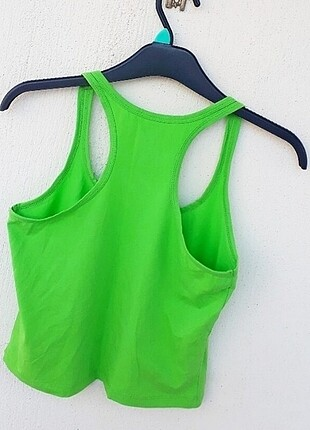 s Beden Sırt Kısmı Çapraz Yeşil Göbek Üstü Bluz