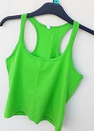 s Beden yeşil Renk Sırt Kısmı Çapraz Yeşil Göbek Üstü Bluz