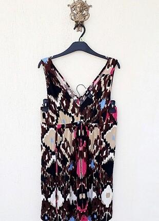 H&M Mükemmel Mikro Desenli Yazlık Elbise