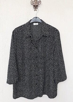 American Vintage Sommer Mann Marka Mükemmel Siyah Mikro Desenli Jarse Gömlek