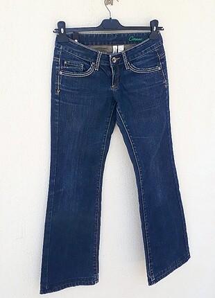 Mango Mango Jeans Eskitme Detaylı Kot Pantolon