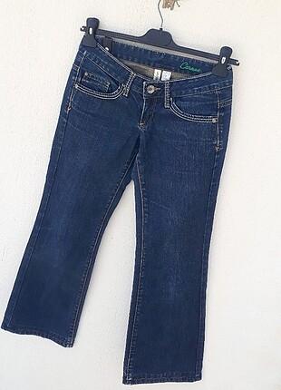 34 Beden Mango Jeans Eskitme Detaylı Kot Pantolon