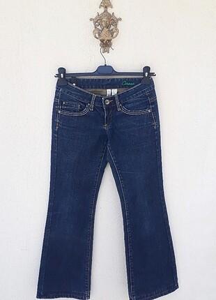 Mango Jeans Eskitme Detaylı Kot Pantolon