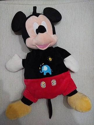 mickey mouse peluş oyuncak ve çanta