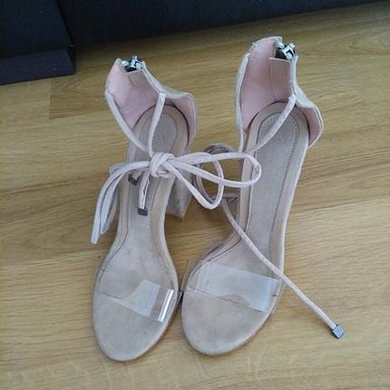 pelinin ayakkabıları şeffaf bantlı bilekten bağlamalı ayakkabı