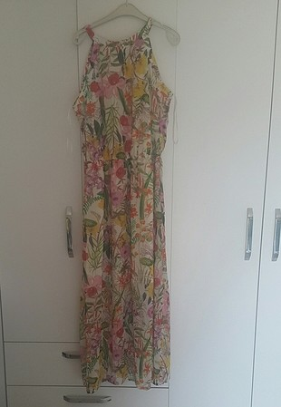 LC Waikiki çiçekli şifon uzun elbise