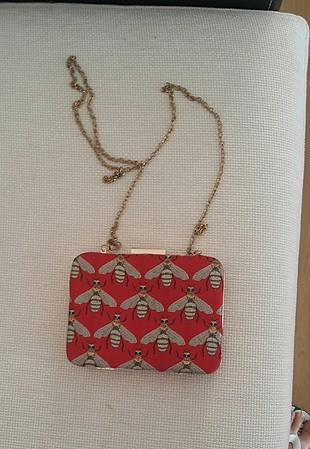 koton Party wear kırmızı çanta