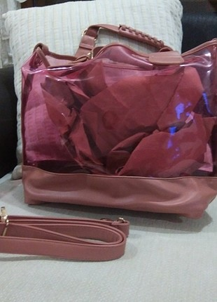 Koton şeffaf çanta