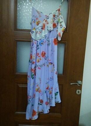 Milla lila çiçekli elbise