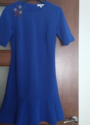 Koton saks mavi elbise