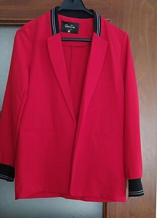 s Beden kırmızı Renk Quzu kirmizi ince ceket