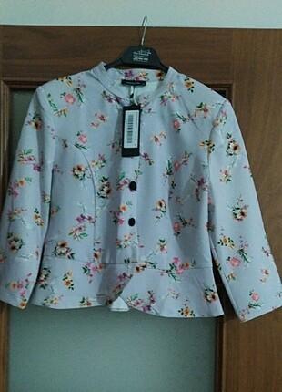 Trendyol Milla lila desenli ceket