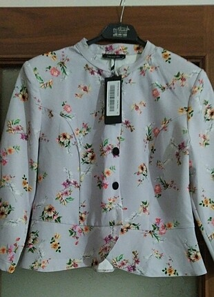 l Beden Trendyol Milla lila desenli ceket