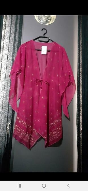 Fuşya Etiketli Pareo/ Kimono