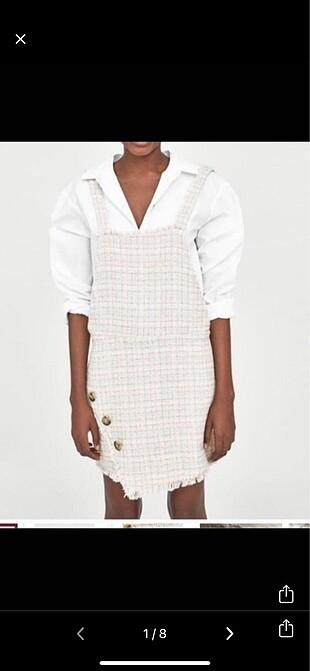 Zara tüvit bahcıvan elbise