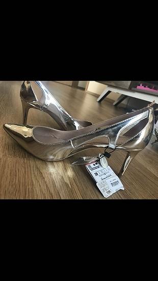 Zara Ayakkabı Gümüş Altın Renk