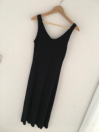 Siyah penye elbise