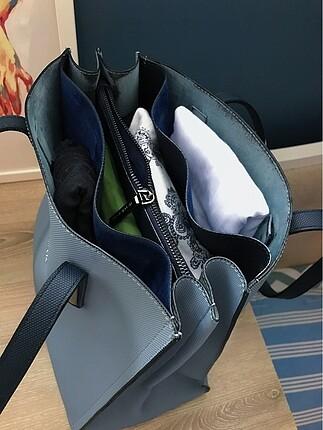 Beden mavi Renk Matthew Cox geniş kol çantası
