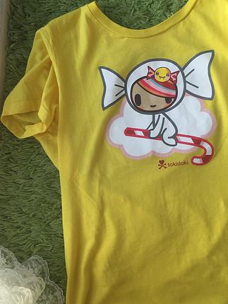 Tokidoki sarı harajuku tişört