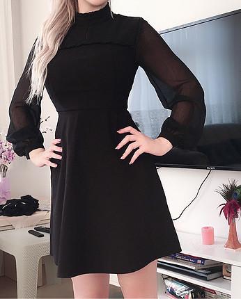 36 Beden siyah Renk Bayan elbise