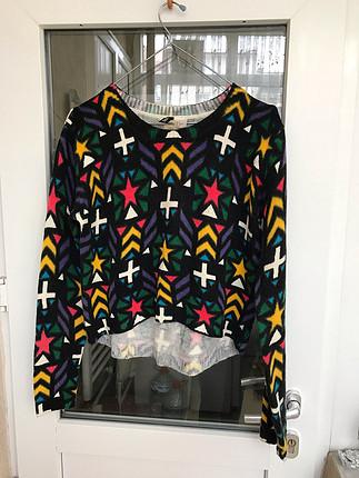 H&M renkli kazak