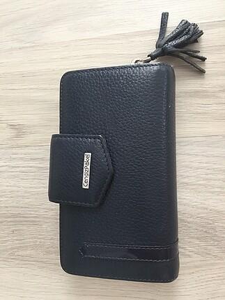 Gerçek deri lacivert cüzdan Cengiz Pakel