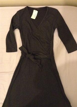 Gri vintage elbise