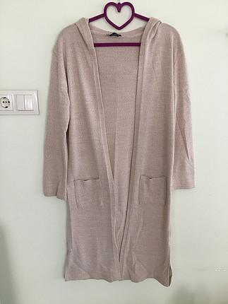 Krem renk uzun ceket