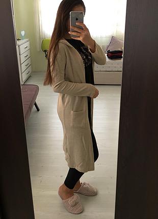 s Beden ten rengi Renk Krem renk uzun ceket