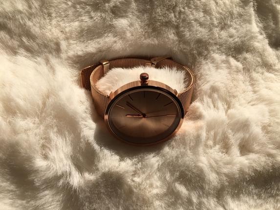 Gold rose hasır model saat