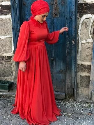 kırmızı uçuş uçuş elbise