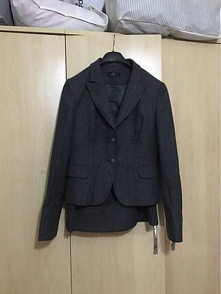 Gri Kışlık Takım Elbise