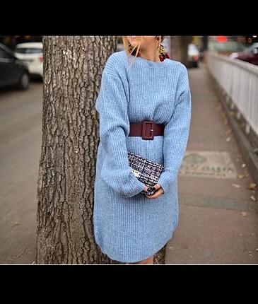 Mavi Kazak Elbise