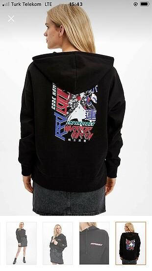 Defacto sırtı baskılı sweatshirt
