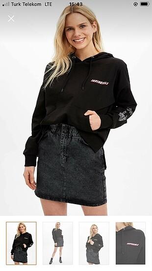 s Beden sırtı baskılı sweatshirt