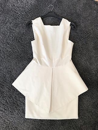 Zara Beyaz Şık Elbise