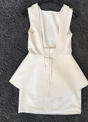 s Beden beyaz Renk Beyaz Şık Elbise