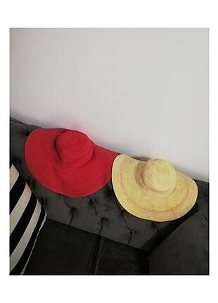 Beden kırmızı Renk Hasır şapka