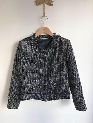 Chanel tarzı triko ceket